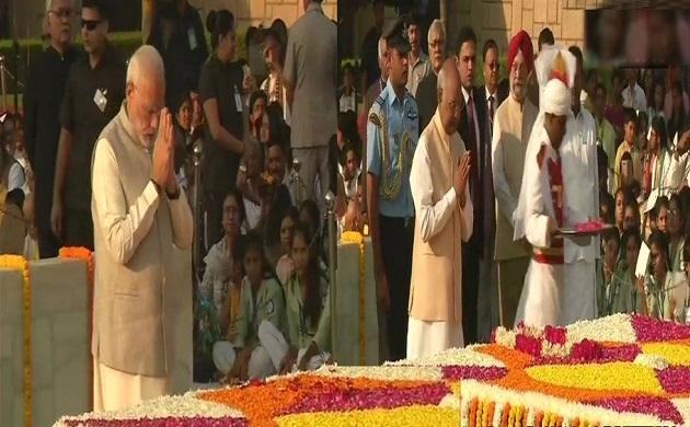 पीएम नरेंद्र मोदी ने महात्मा गांधी को दी श्रद्धांजलि
