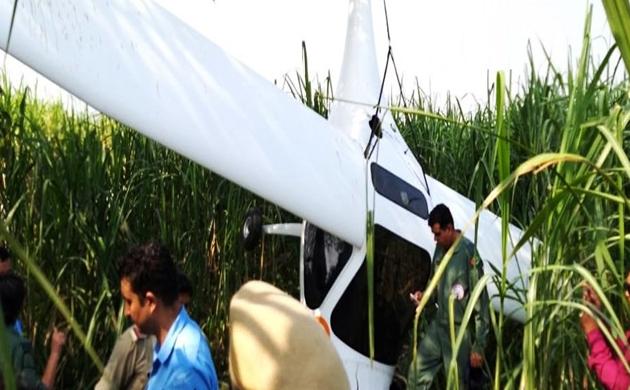 भारतीय वायुसेना का विमान बागपत में क्रैश, दोनों पायलट सेफ