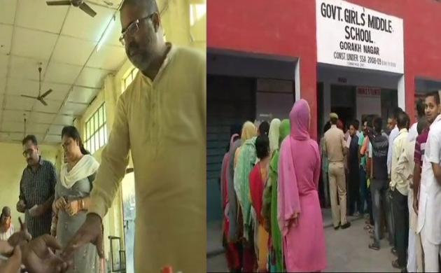 जम्मू कश्मीरः निकाय चुनाव में पहले चरण के डाले जा रहे हैं वोट