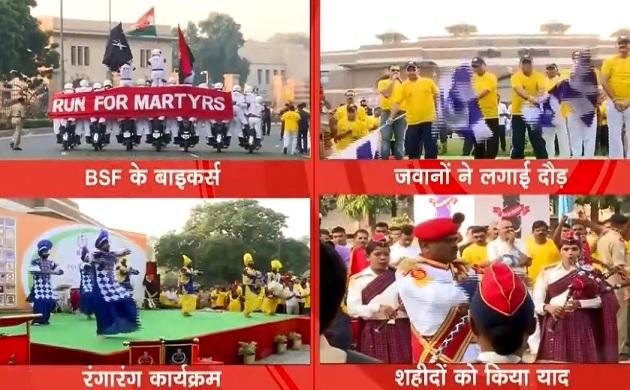 देखें BSF जवानों का मिनी मैराथन, हजारों जवानोन ने लिया हिस्सा