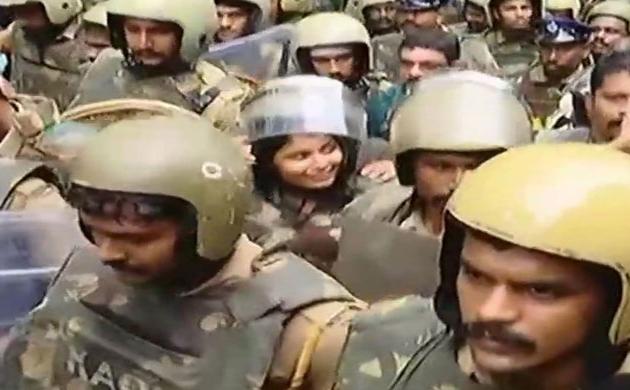 सबरीमाला मंदिर : भारी विरोध के बाद दोनों महिलाएं रास्ते से लौटीं