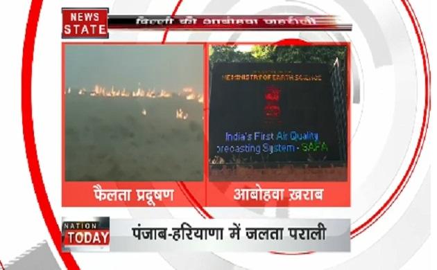 दिल्ली में प्रदूषण की वजह से हालात खतरनाक