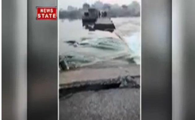 मध्यप्रदेश के जहांगीर में आई बाढ़, देखें वीडियो