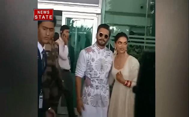 दीपिका-रणवीर को देखने एयरपोर्ट पर लगी प्रशंसकों की भीड़