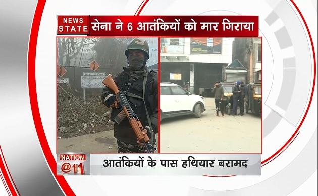 जम्मू-कश्मीर : मुठभेड़ में लश्कर कमांडर समेत 6 आतंकवादी ढेर