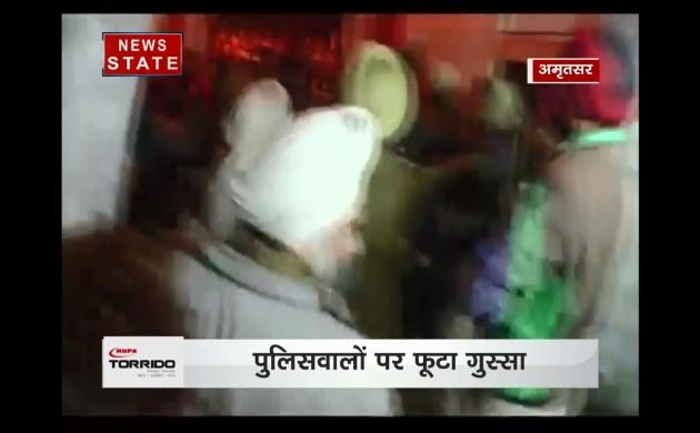 अमृतसर : पुलिस हिरासत में हुई शख्स की मौत, थाने के बाहर लोगों ने किया हंगामा