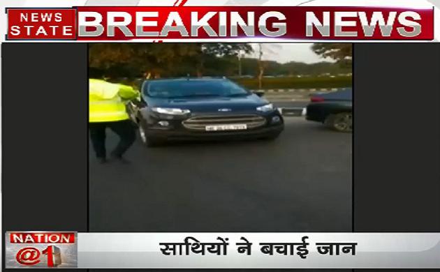 Video: गाड़ी रोकने पर ट्रैफिक पुलिस को मिली ऐसी सज़ा देखिए वीडियो