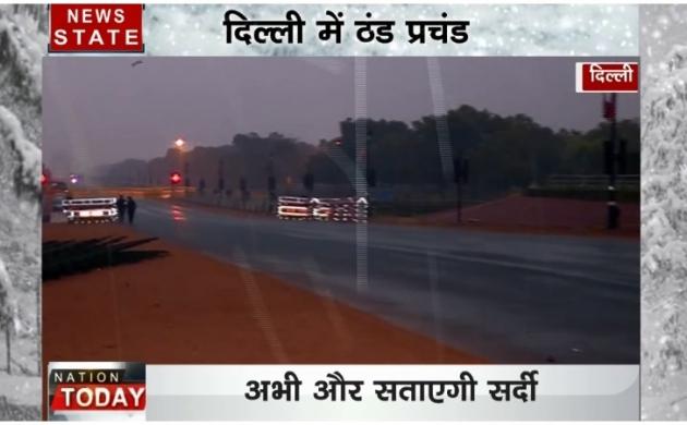 नए साल की पहली बारिश से दिल्ली में बढ़ी ठंड