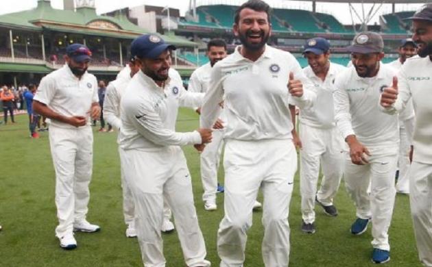 INDvAUS: ऑस्ट्रेलिया में ऐतिहासिक जीत के बाद कुछ इस अंदाज में थिरके भारतीय बल्लेबाज