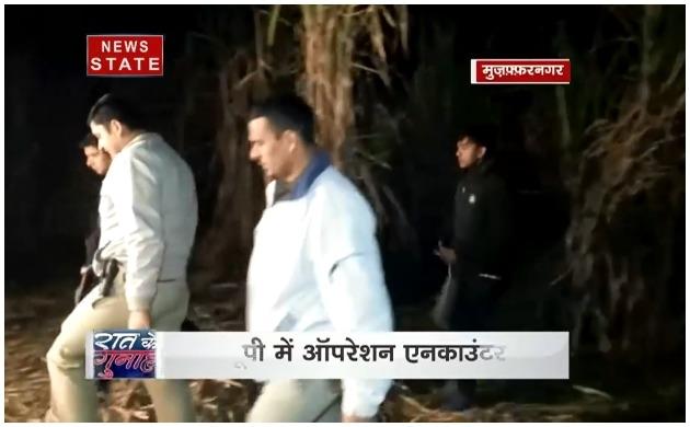 उत्तर प्रदेश : मुजफ्फरनगर में पुलिस और बदमाशों में हुई मुठभेड़