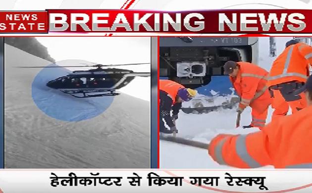 VIDEO: फ्रांस के बर्फीले तूफान में फंसा स्कीयर, हेलीकॉप्टर से किया गया रेस्क्यू