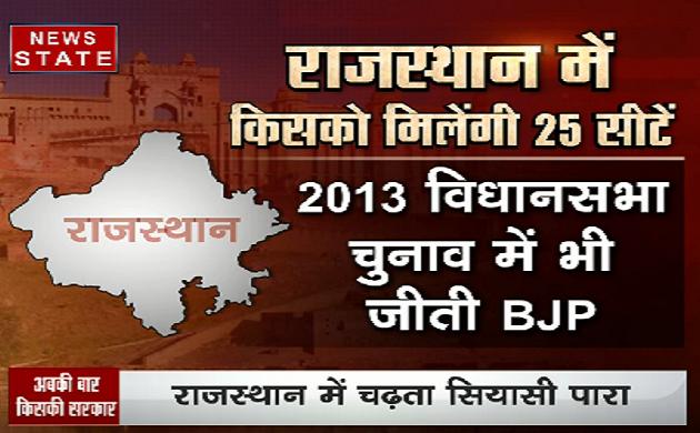 अपकी बार किसकी सरकार: राजस्थान में किसको मिलेंगी 25 सीटें?