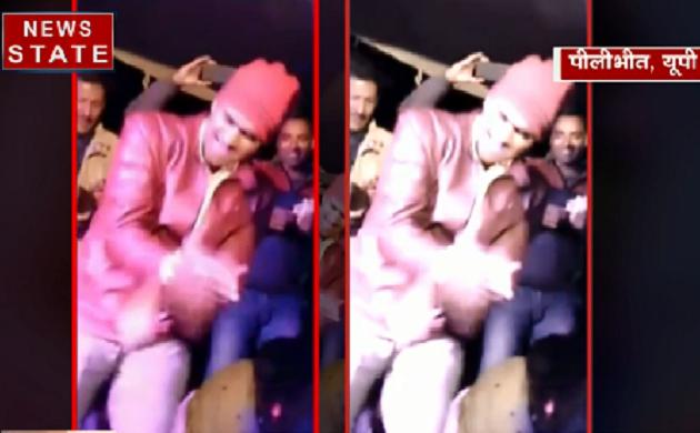 VIDEO: पीलीभीत में सिपाही ने बार बालओं के साथ लगाए ठुमके