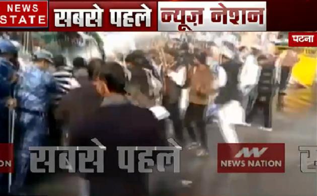 Bihar: RLSP के जन आक्रोश मार्च पर लाठीचार्ज, उपेंद्र कुशवाहा को लगी चोट