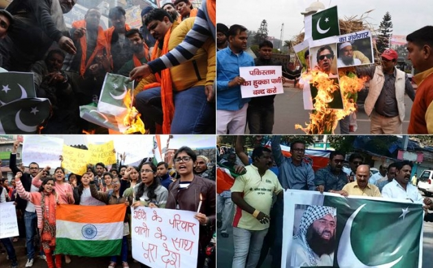 पुलवामा अटैक: कश्मीर से लेकर दिल्ली तक पाकिस्तान के खिलाफ प्रदर्शन