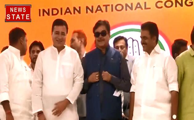 कांग्रेस में शामिल हुए शत्रुघ्न सिन्हा, पटना साहेब से लड़ेंगे चुनाव