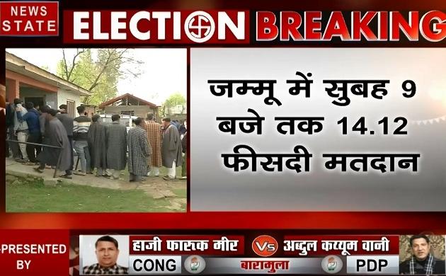 Election 2019: जम्मू-कश्मीर में सुबह 9 बजे तक 11.43 प्रतिशत वोटिंग, देखें वीडियो