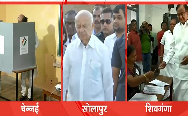 Election 2019 : दूसरे चरण का रण शुरु, रजनीकांत पहुंचे मतदान के लिए