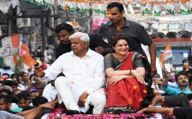 प्रियंका गांधी ने कानपुर में किया रोड शो, उमड़ा जनसैलाब