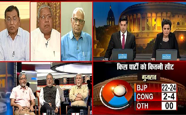Exit Poll 2019 : गुजरात में भगवा रंग का दिखा जादू