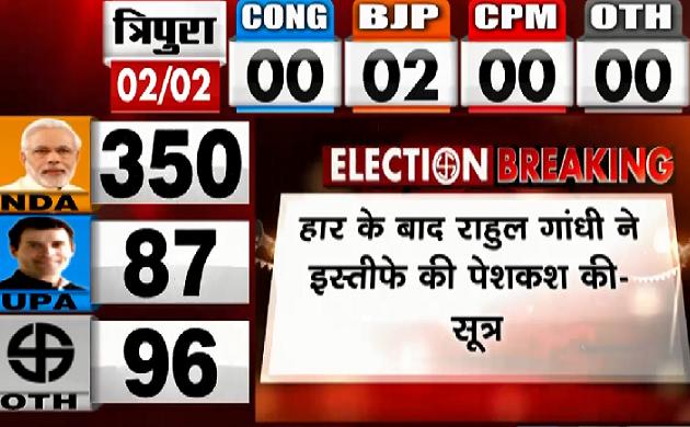 Lok Sabha Election Result 2019 : Rahul Gandhi ने Sonia Gandhi से इस्तीफे की पेशकश की - सूत्र
