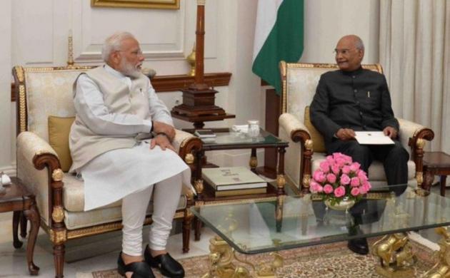 General election 2019: इस्तीफा देने राष्ट्रपति भवन पहुंचे प्रधानमंत्री नरेंद्र मोदी