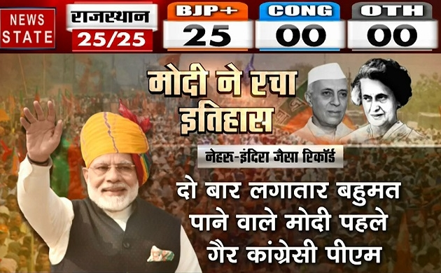 Lok sabha Election Results 2019: नेहरू, इंदिरा जैसा चुनावी रिकॉर्ड पाने वाले तीसरे पीएम बने मोदी, देखें वीडियो