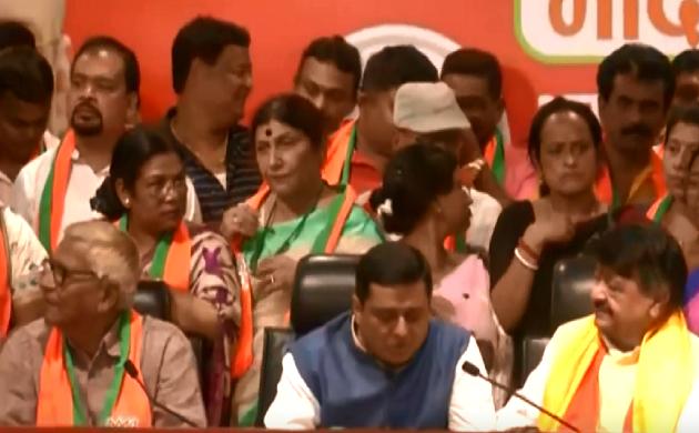 दीदी को एक और झटका TMC के तीन विधायक समेत 50 पार्षद BJP में शामिल हुए