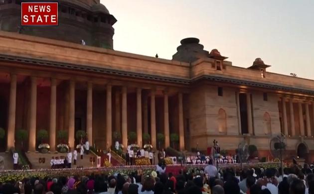 PM Narendra modi Oath Ceremony: पीएम मोदी के शपथ ग्रहण समारोह में लगे हर-हर महादेव के नारे, देखें वीडियो