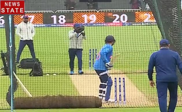Cricket World CUP 2019 : टीम इंडिया ने न्यूजीलैंड से भिड़ने के लिए जमकर बहाया पसीना