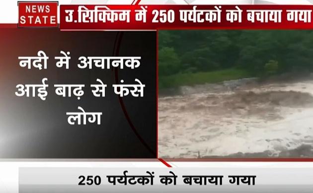 सिक्किम: नदी में अचानक आई बाढ़ में फंसी 250 पर्यटकों की जिंदगी, कौन बना मसीहा, देखें वीडियो