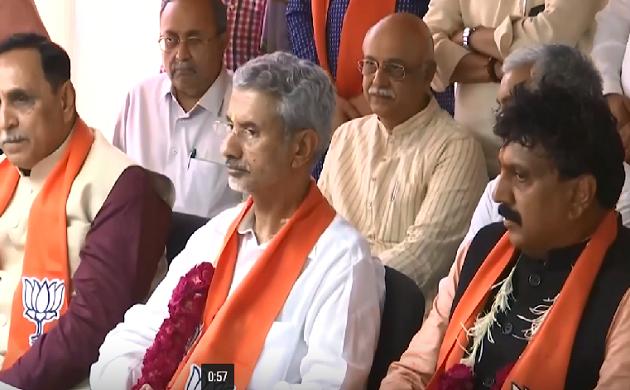 Gujarat : विदेश मंत्री Jaishankar नामांकन दाखिल करने पहुंचे