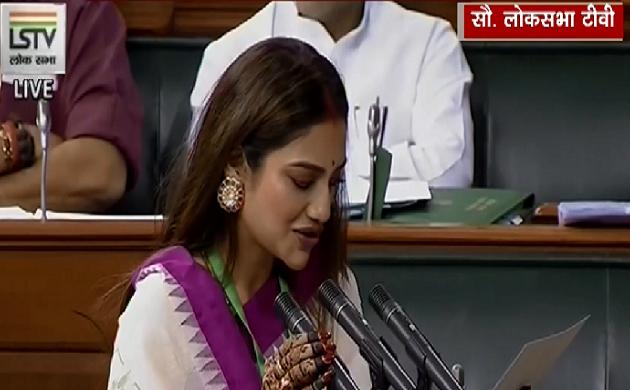 सिंदूर लगाने पर उठे सवाल पर Nusrat Jahan ने दिया करारा जवाब, देखें VIDEO