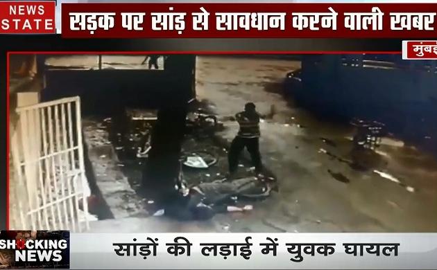 Shocking News : मुंबई- IIT कैंपस में घुसा सांड, छात्र पर किया हमला, देखें वीडियो