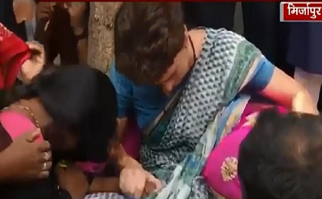 सोनभद्र नरसंहार : पीड़ितों से मिलकर Priyanka Gandhi के छलके आंसू