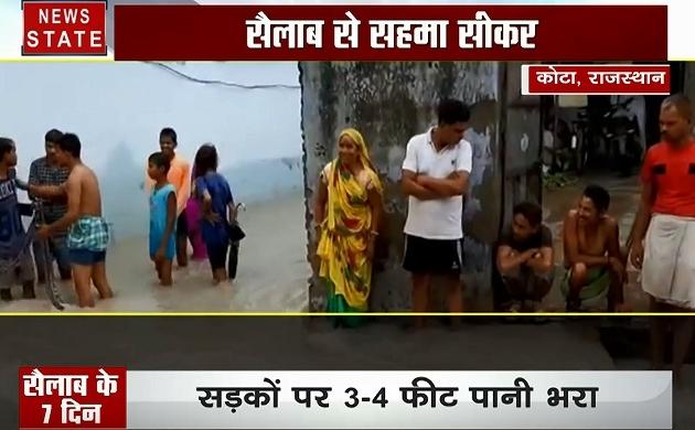 राजस्थान: बूंद बूंद के लिए तरसने वाला राजस्थान सैलाब के कहर से जूझ रहा है, देखें सैलाब के 7 दिन