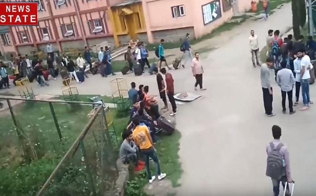 अमरनाथ एडवाइजरी के बाद NIT श्रीनगर के हॉस्टल कराए गए खाली, देखिए ये Video
