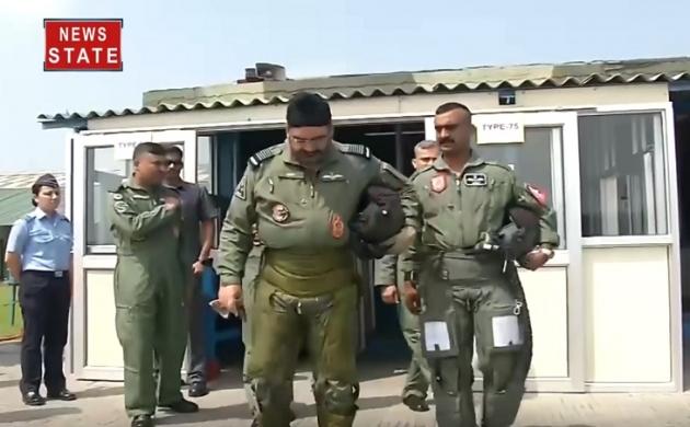 अभिनंदन नए लुक में लौटे 'वर्तमान' में, MIG-21 में IAF Chief के साथ भरी उड़ान