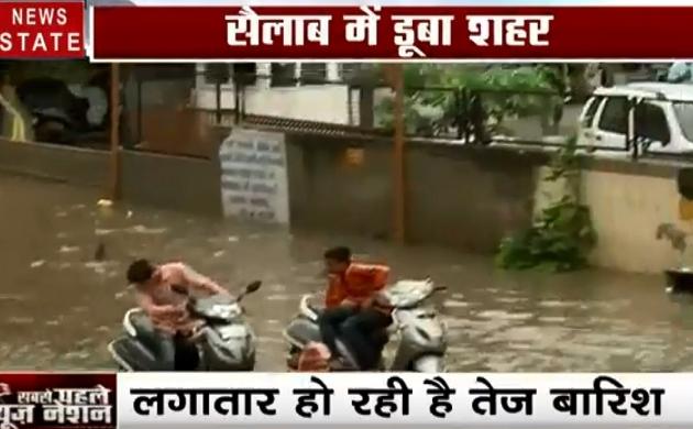 Gujrat: देखिए भारी बारिश के बाद तालाब बना अहमदाबाद