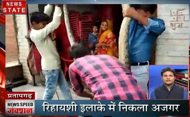 News Speed Junction : रिहायशी इलाके में निकला 14 फीट लंबा अजगर, BJP नेता की कार का कटा चालान
