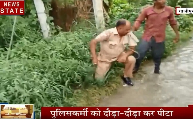 Uttar pradesh: चालान को लेकर विवाद, दारोगा की दौड़ा-दौड़ा कर पिटाई