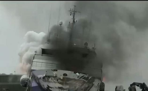 खोज खबर: नॉर्वे में तेल से भरे शिप पर लगी भीषण आग