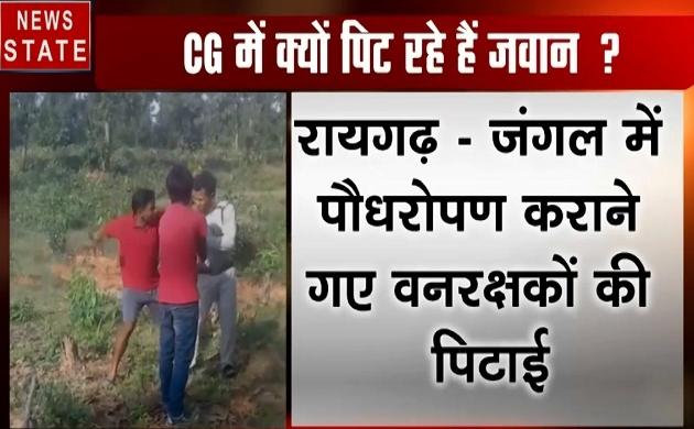 Chhattisgarh: रायगढ़- जंगल में पौधारोपण करने गए वनरक्षकों की पिटाई, देखें वीडियो
