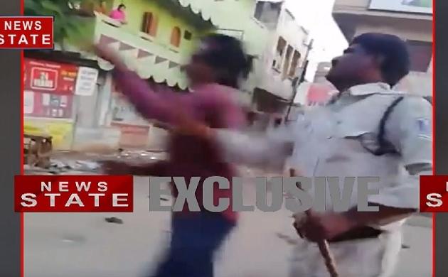 मध्य प्रदेश में पुलिस आरक्षक की गुंडागर्दी का वीडियो हो रहा वायरल