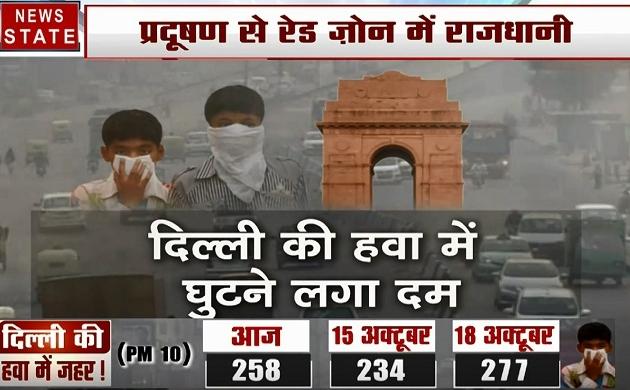 Delhi :जहरीली हो गई दिल्ली की हवा,  सुबह घर से निकलने से पहले लगाना होगा मास्क