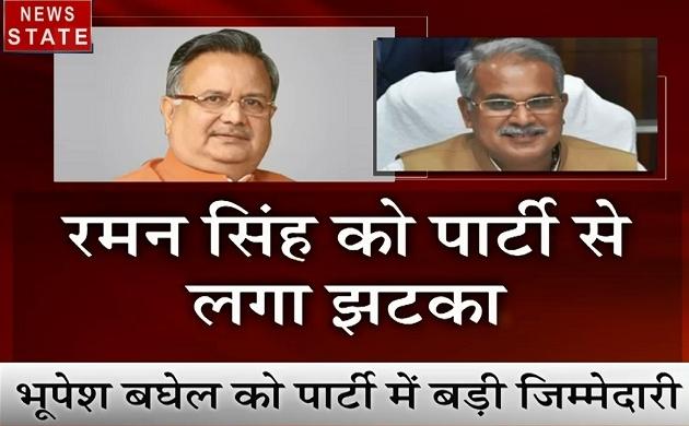 Chhattisgarh: रमन सिंह को कांग्रेस से बड़ा झटका, भूपेश बघेल बने स्टार प्रचारक