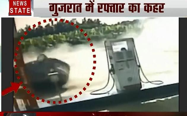 40 Khabrein: गुजरात में रफ्तार का कहर, हवा में कई फीट उछली कार