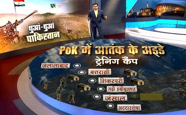 PoK Terror Camps GFX: PoK में आतंक के लॉन्च पैड तबाह, भारतीय सेना का मुहंतोड़ जवाब, देखें ग्राफिक्स