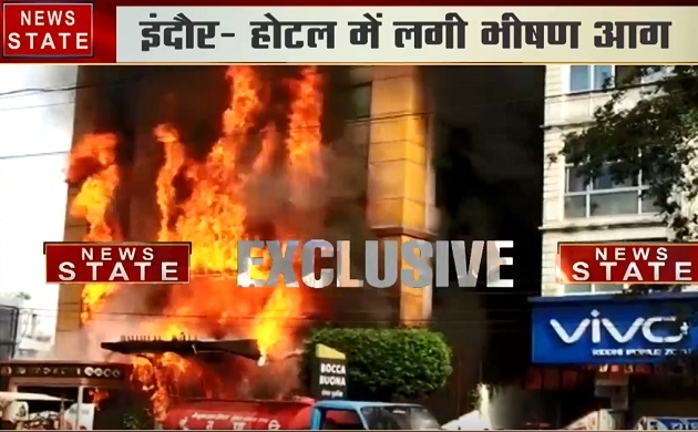 Madhya pradesh: इंदौर के एक पांच मंजिला होटल में लगी भीषण आग