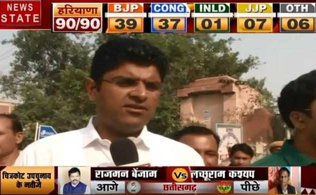 Haryana Election Results: JJP के पास होगी सत्ता की चाबी- दुष्यंत चौटाला